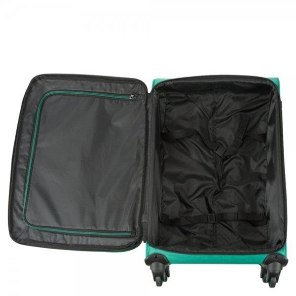 Princess Traveller Colombo 4 Wiel Trolley L green Zachte koffer van Polyester