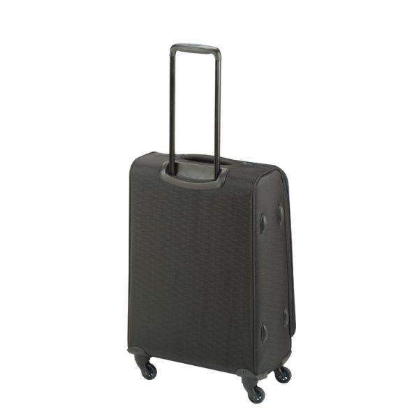 Princess Traveller Colombo 4 Wiel Trolley M black Zachte koffer van Polyester