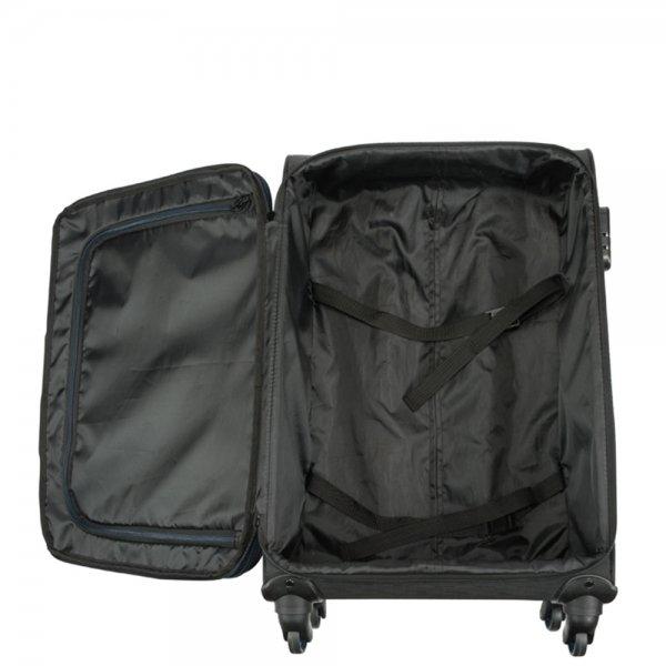 Princess Traveller Colombo 4 Wiel Trolley M black Zachte koffer