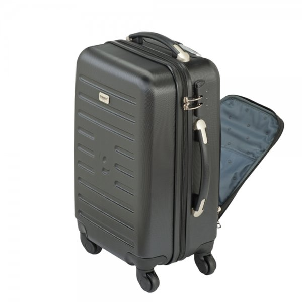 Princess Traveller Dubai Cabin Trolley With Softpocket black Harde Koffer van ABS