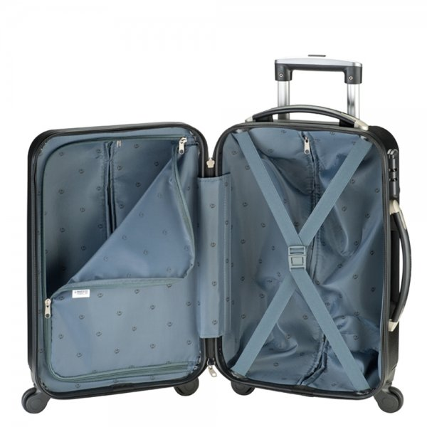 Princess Traveller Dubai Cabin Trolley With Softpocket black Harde Koffer