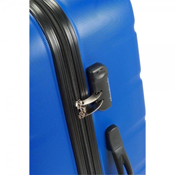 Princess Traveller Grenada 4 Wiel Trolley L blue Harde Koffer van ABS