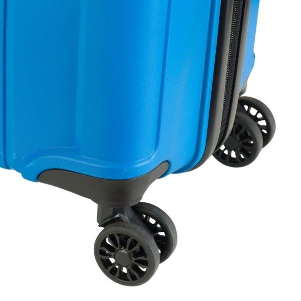 Princess Traveller Havana 4 Wiel Trolley M blue Harde Koffer van Polypropyleen
