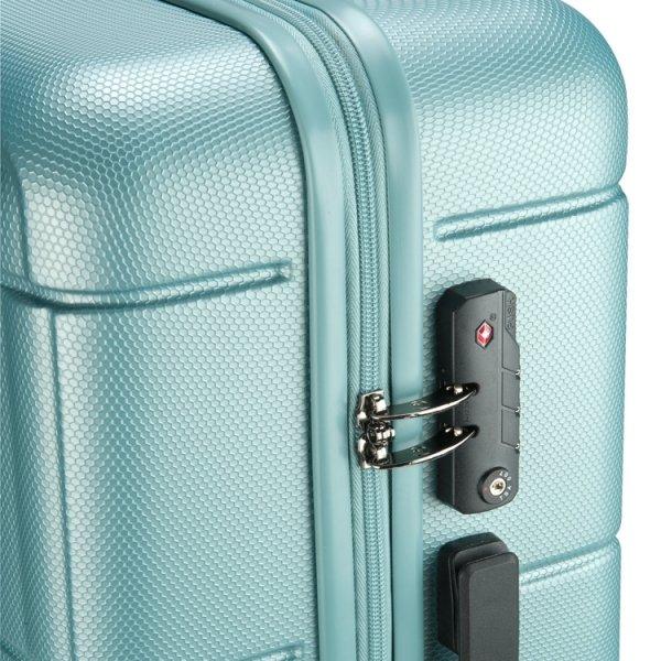 Princess Traveller Macau 4 Wiel Trolley L light blue Harde Koffer van ABS
