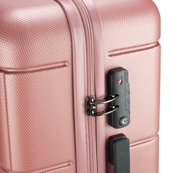 Princess Traveller Macau 4 Wiel Trolley L pink Harde Koffer van ABS