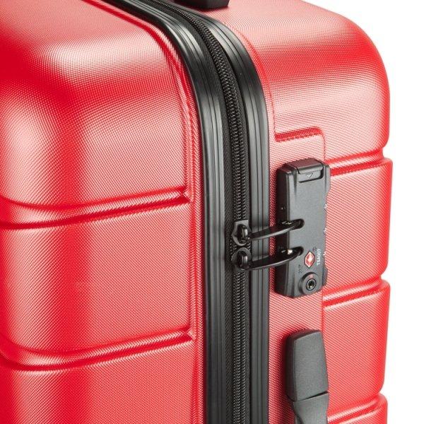 Princess Traveller Ottawa 3 Delige Kofferset red van ABS