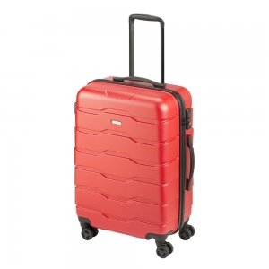Princess Traveller Ottawa 4 Wiel Trolley M red Harde Koffer