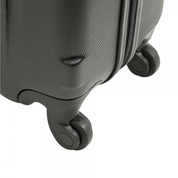Princess Traveller San Francisco 4 Wiel Trolley L black Harde Koffer van ABS