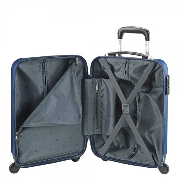 Princess Traveller Santiago Cabin Trolley S dark blue Harde Koffer van ABS