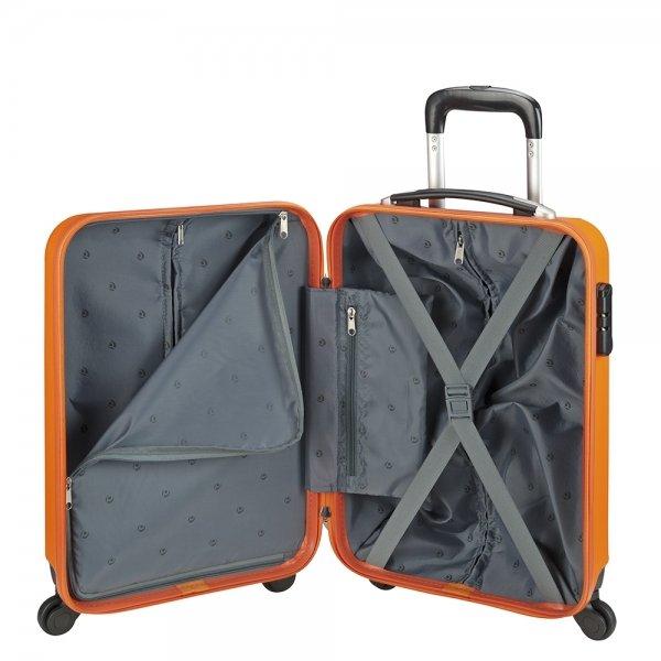 Princess Traveller Santiago Cabin Trolley S orange Harde Koffer van ABS