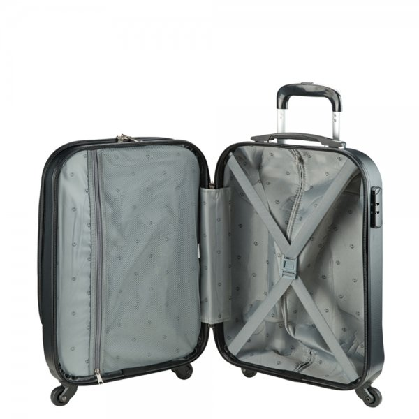 Princess Traveller Sydney Cabin Laptop Trolley black Harde Koffer van ABS