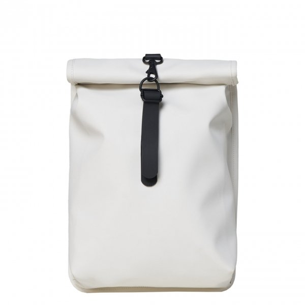 Rains Rolltop Mini off white backpack
