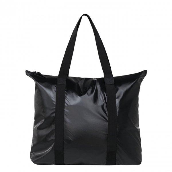 Rains Tote Bag shiny black Damestas