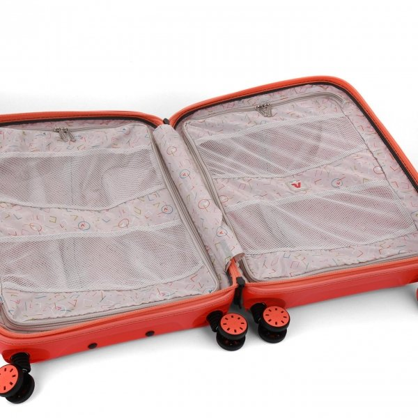 Roncato Box 2.0 Young 4 Wiel Cabin Trolley 55/20 papaya Harde Koffer van Polypropyleen