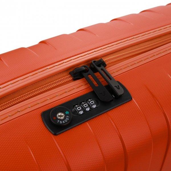 Roncato Box 2.0 Young 4 Wiel Cabin Trolley 55/20 papaya Harde Koffer