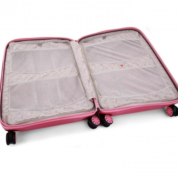 Roncato Box 2.0 Young Large 4 Wiel Trolley 78 fragola Harde Koffer van Polypropyleen