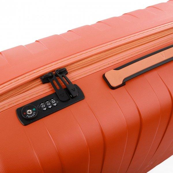 Roncato Box 2.0 Young Large 4 Wiel Trolley 78 papaya Harde Koffer van Polypropyleen