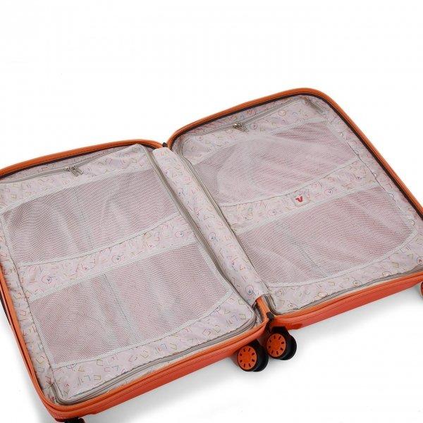 Roncato Box 2.0 Young Medium 4 Wiel Trolley 69 papaya Harde Koffer van Polypropyleen