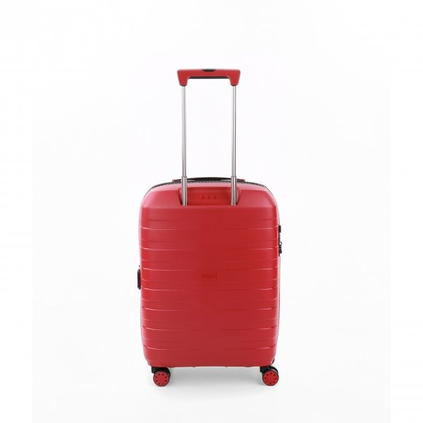 Roncato Box 4.0 4 Wiel Cabin Trolley 55/20-23 rosso Harde Koffer van Polypropyleen