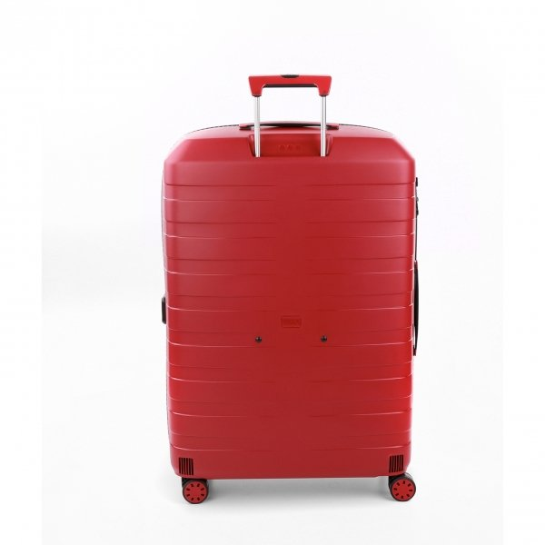 Roncato Box 4.0 Large 4 Wiel Trolley 78 rosso Harde Koffer van Polypropyleen