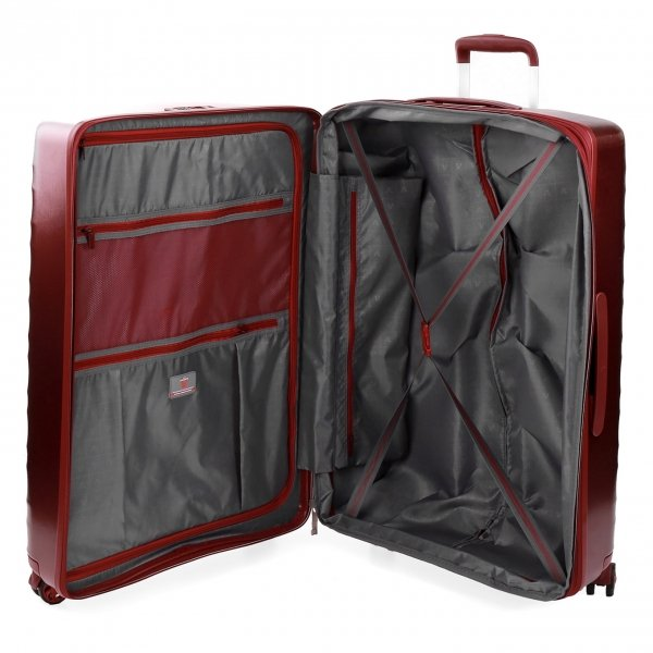 Roncato Stellar Large 4 Wiel Trolley Exp rosso scuro Harde Koffer van Polycarbonaat