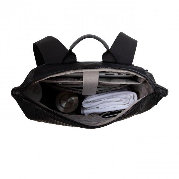 Salzen Vertiplorer Plain Backpack Leather aligned smoke backpack van Polyester