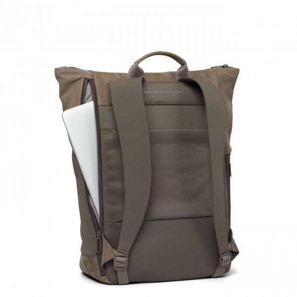 Salzen Vertiplorer Plain Backpack Leather weims taupe backpack van Polyester