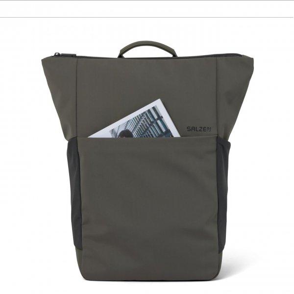 Salzen Vertiplorer Plain Backpack olive grey backpack van Polyester