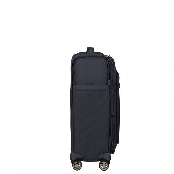 Samsonite Airea Spinner 55 Exp Lenght 35 cm dark blue Zachte koffer van Polyester