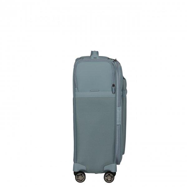 Samsonite Airea Spinner 55 Exp Lenght 35 cm smoke blue Zachte koffer van Polyester