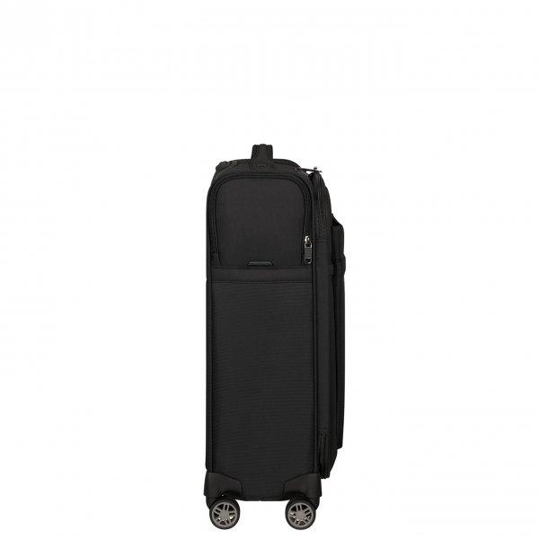 Samsonite Airea Spinner 55 Strict black Zachte koffer van Polyester