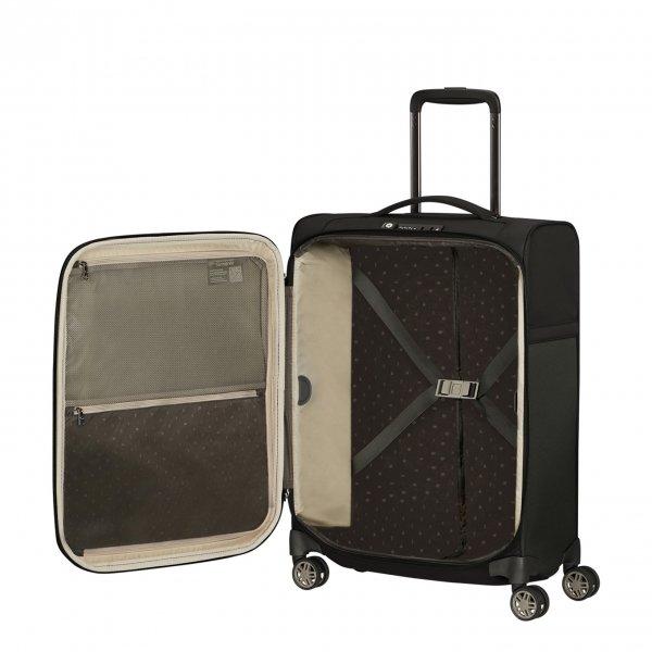 Samsonite Airea Spinner 55 Strict black Zachte koffer