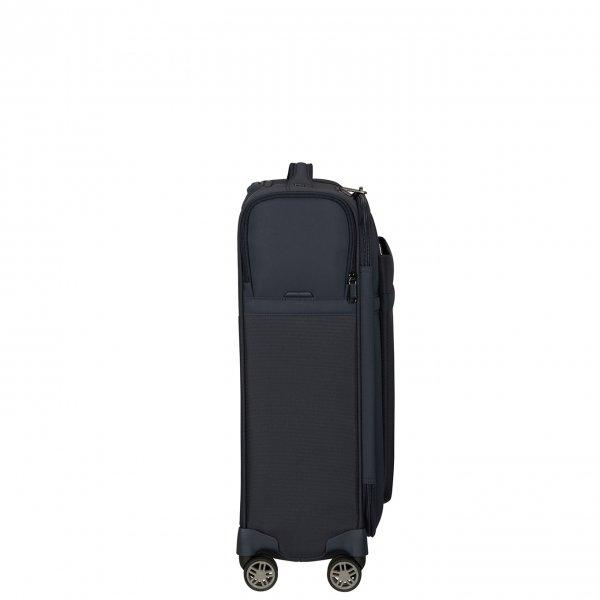 Samsonite Airea Spinner 55 Strict dark blue Zachte koffer van Polyester