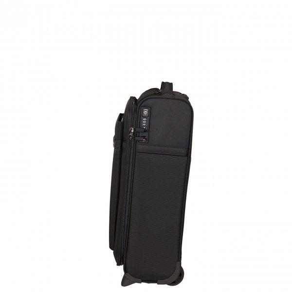 Samsonite Airea Upright 55 Exp Toppocket black Handbagage koffer van Polyester