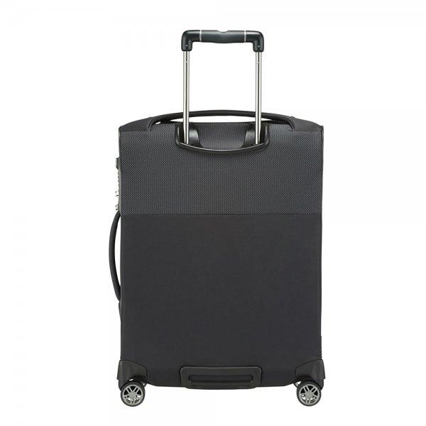 Samsonite B-Lite Icon Spinner 55 Expandable Toppocket black Zachte koffer van Polyester