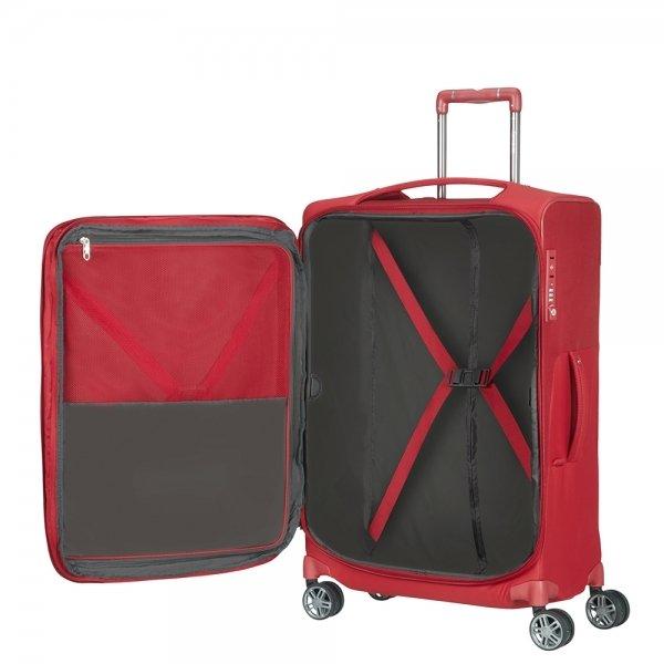 Samsonite B-Lite Icon Spinner 63 Expandable red Zachte koffer van Polyester