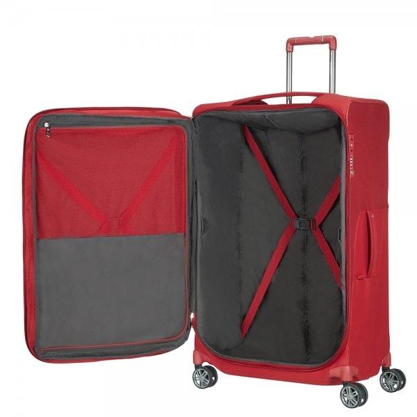 Samsonite B-Lite Icon Spinner 71 Expandable red Zachte koffer van Polyester