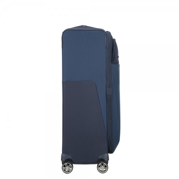 Samsonite B-Lite Icon Spinner 78 Expandable dark blue Zachte koffer van Polyester