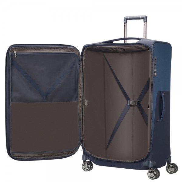 Samsonite B-Lite Icon Spinner 78 Expandable dark blue Zachte koffer
