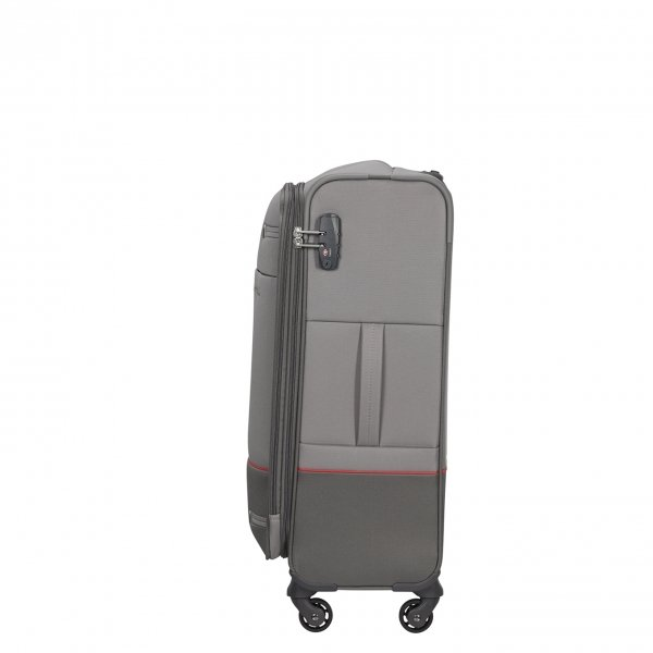 Samsonite Base Boost Spinner 66 Expandable grey Zachte koffer van Polyester