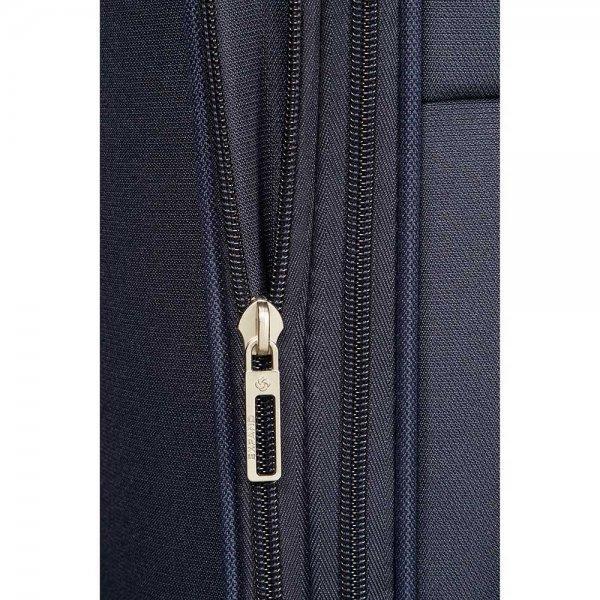 Samsonite Base Boost Spinner 78 Expandable navy blue Zachte koffer van Polyester