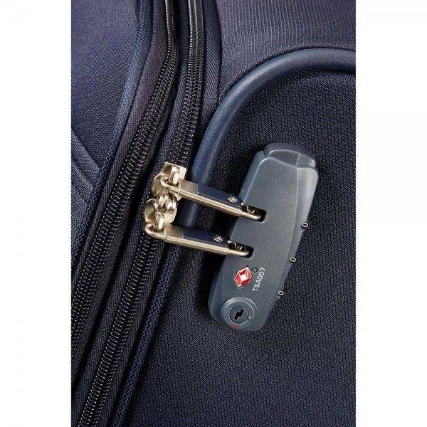 Samsonite Base Boost Spinner 78 Expandable navy blue Zachte koffer