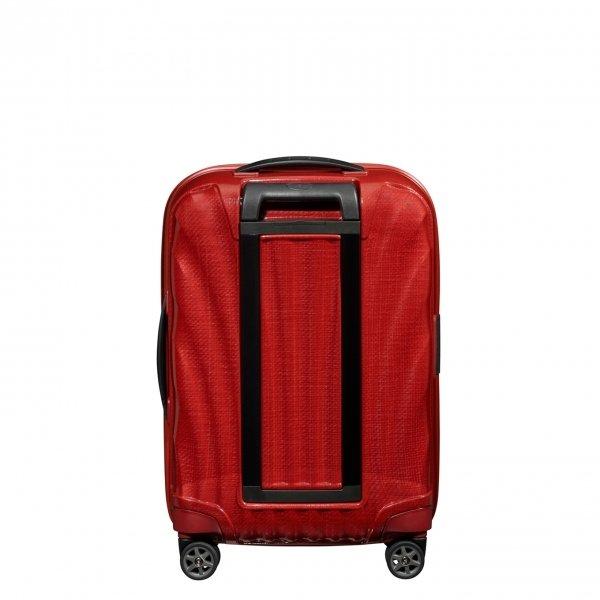 Samsonite C-Lite Spinner 55 Exp chili red Harde Koffer van Curv