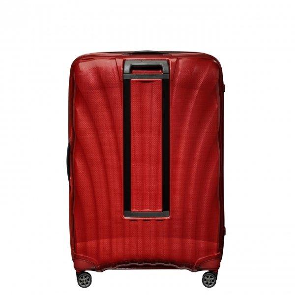 Samsonite C-Lite Spinner 86 chili red Harde Koffer van Curv