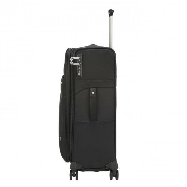 Samsonite Duopack Spinner 67 Exp 1 Frame black Zachte koffer van Polyester