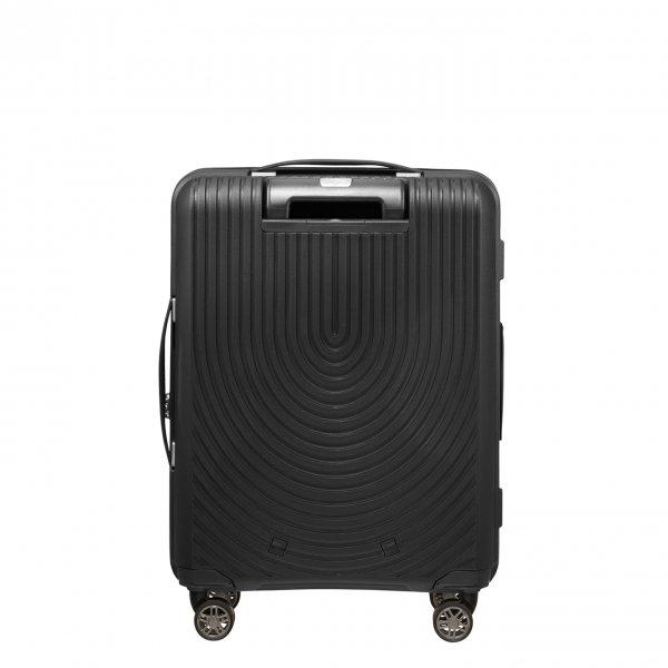 Samsonite Hi-Fi Spinner 55 Exp black Harde Koffer van Polypropyleen