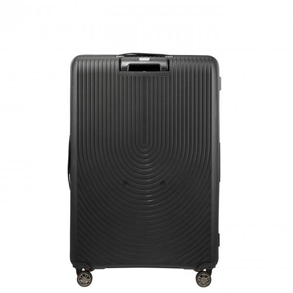 Samsonite Hi-Fi Spinner 81 Exp black Harde Koffer van Polypropyleen