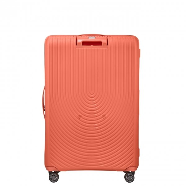 Samsonite Hi-Fi Spinner 81 Exp bright coral Harde Koffer van Polypropyleen