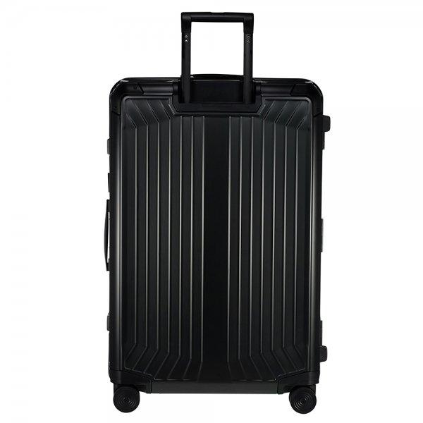 Samsonite Lite-Box Alu Spinner 76 black Harde Koffer van Aluminium