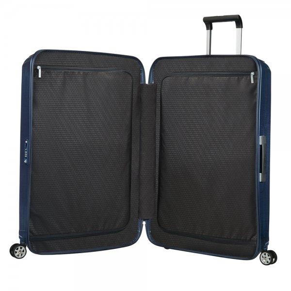 Samsonite Lite-Box Spinner 69 deep blue Harde Koffer van Curv